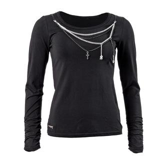 tričko dámské s dlouhým rukávem QUEEN OF DARKNESS - Black and Silver, QUEEN OF DARKNESS