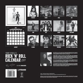 kalendář Terry O'Neill's Rock 'n' Roll 2017, PYRAMID POSTERS