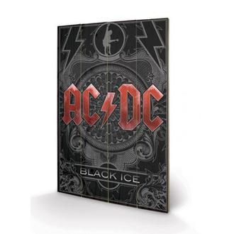 dřevěný obraz AC/DC - Black Ice, PYRAMID POSTERS, AC-DC