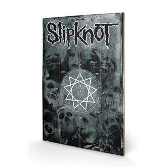 dřevěný obraz Slipknot - Pentagram, PYRAMID POSTERS, Slipknot