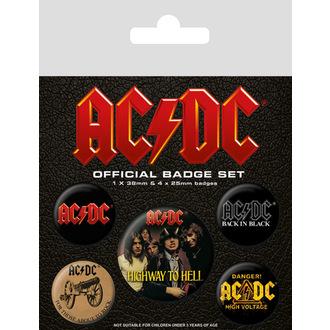 placky AC/DC (Logo), PYRAMID POSTERS, AC-DC
