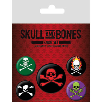 placky Skull and Bones, PYRAMID POSTERS