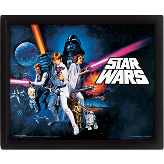 3D obraz Star Wars - A New Hope, PYRAMID POSTERS