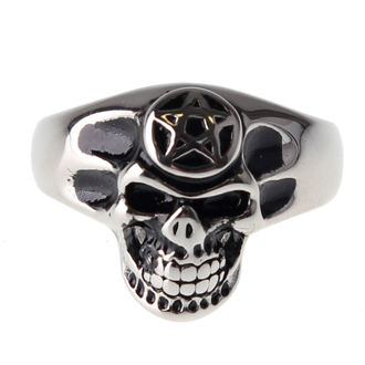 prsten ETNOX - Pentagram Skull