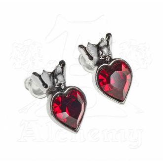 náušnice ALCHEMY GOTHIC - Claddagh Heart - E379