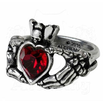 prsten ALCHEMY GOTHIC - Claddagh By Night - R210