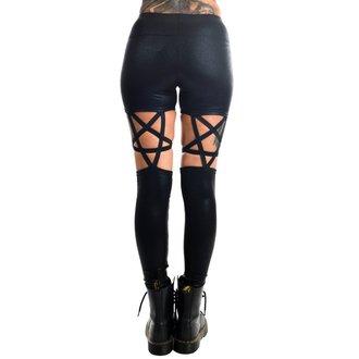 kalhoty dámské (leginy) TOO FAST - PENTAGRAM - BLACK GLITTER, TOO FAST