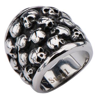 prsten INOX - MULTI SKULLS - FR234