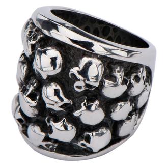 prsten INOX - MULTI SKULLS