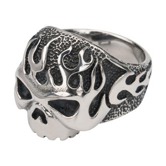 prsten INOX - SKULL FLAME, INOX