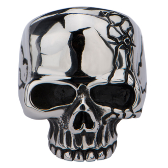 prsten INOX - SKULL WITH CRACK - FR666