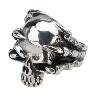 prsten INOX - SKULL, INOX