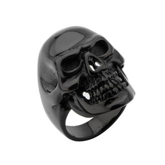 prsten INOX - BLK IP SKULL ALL TEETH - FR100K