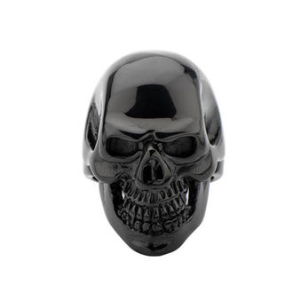 prsten INOX - BLK IP SKULL ALL TEETH