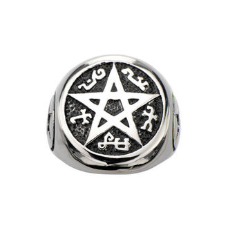 prsten INOX - BLK PENTAGRAM