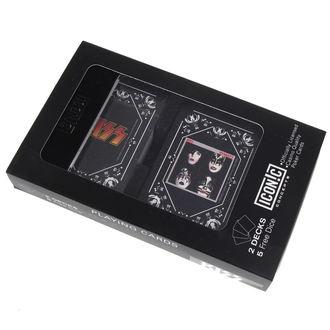 sada hrací karty + kostky) KISS - Iconic