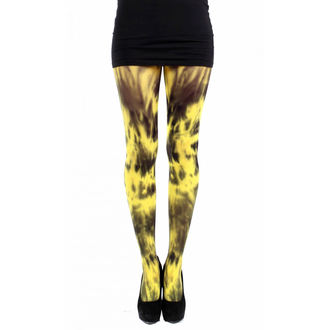punčocháče PAMELA MANN - 50 Denier 3D Tie Dye - Yellow