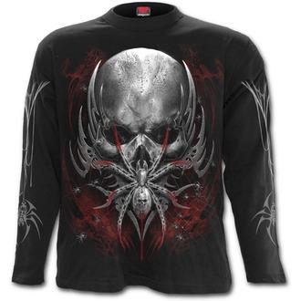 tričko pánské s dlouhým rukávem SPIRAL - SPIDER SKULL - Black - D073M301