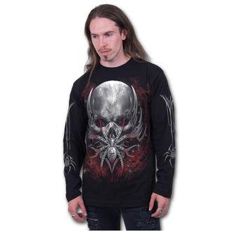 tričko pánské s dlouhým rukávem SPIRAL - SPIDER SKULL - Black