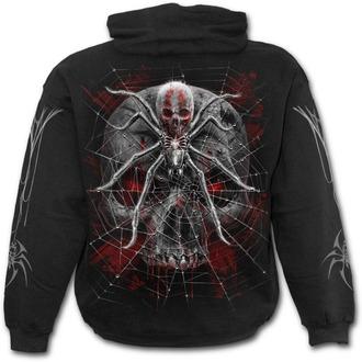 mikina pánská SPIRAL - SPIDER SKULL - Black - D073M451
