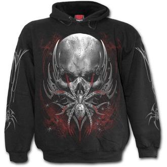mikina pánská SPIRAL - SPIDER SKULL - Black