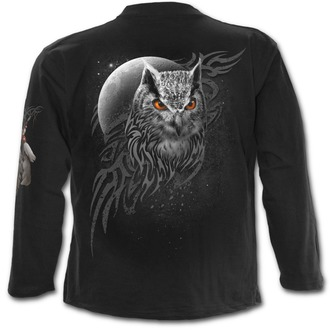 tričko pánské s dlouhým rukávem SPIRAL - WINGS OF WISDOM - Black - E022M301