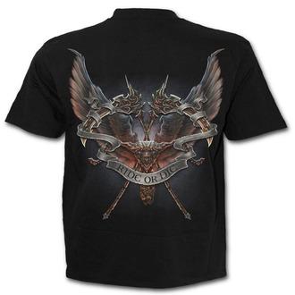 tričko pánské SPIRAL - RIDE OR DIE - Black - T137M101
