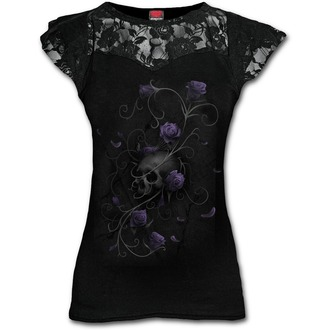 tričko dámské SPIRAL - ENTWINED SKULL - Black - D072F721