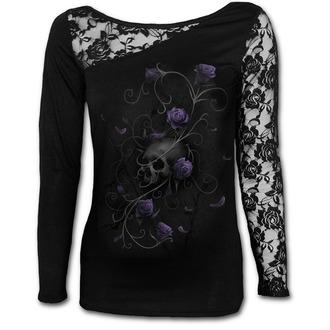 tričko dámské SPIRAL - ENTWINED SKUL - Black - D072F439