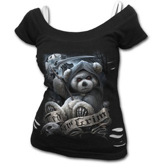 tričko dámské SPIRAL - TED THE GRIM - TEDDY BEAR - Black