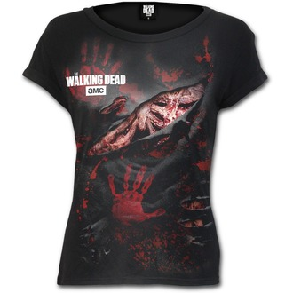 tričko dámské SPIRAL - LOGO - BLOOD - Walking Dead - Black, SPIRAL, The Walking Dead