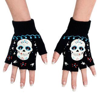 rukavice bezprsté TOO FAST - Sugar Skul, TOO FAST