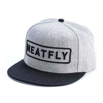 kšiltovka MEATFLY - SPON SNAPBACK D - GREY HEATHER/BLACK, MEATFLY
