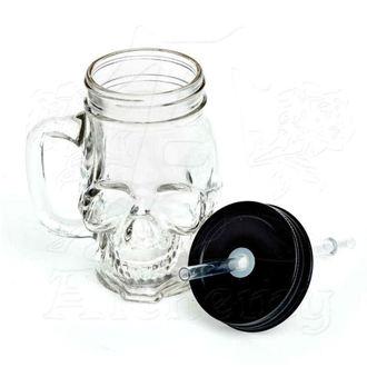 sklenice ALCHEMY GOTHIC - Glass Skull Drinking Jar - AGJ1