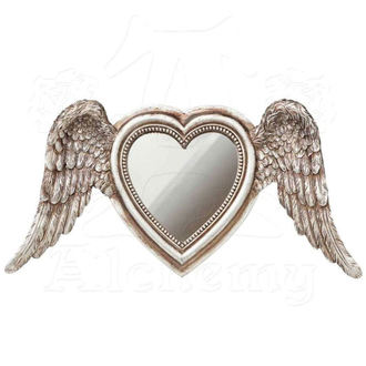 dekorace (zrcadlo) ALCHEMY GOTHIC - Winged Heart (Wings Down)