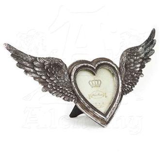 dekorace (fotorámeček) ALCHEMY GOTHIC - Winged Heart(Wings Open) - SA1