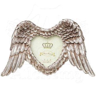 dekorace (fotorámeček) ALCHEMY GOTHIC - Winged Heart (Wings Down)