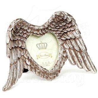 dekorace (fotorámeček) ALCHEMY GOTHIC - Winged Heart (Wings Down), ALCHEMY GOTHIC