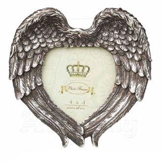 dekorace (fotorámeček) ALCHEMY GOTHIC - Winged Heart (Wings Closed), ALCHEMY GOTHIC