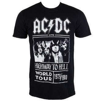 tričko pánské AC/DC - Highway To Hell - World Tour 1979/80 - Black - ROCK OFF - ACDCTTRTW01MB