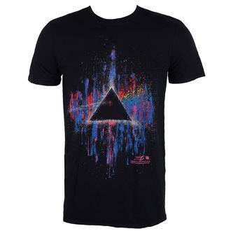 tričko pánské Pink Floyd - DSOTM Pink Splatter - Black - ROCK OFF, ROCK OFF, Pink Floyd