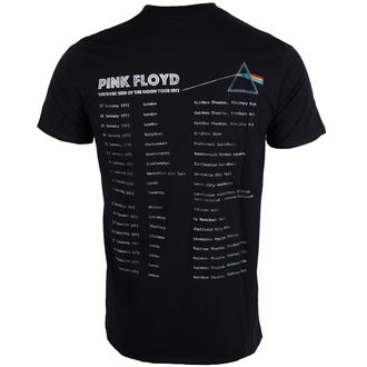 tričko pánské Pink Floyd - Dark Side of the Moon 1972 Tour - Black - ROCK OFF, ROCK OFF, Pink Floyd