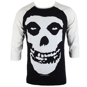 tričko pánské s 3/4 rukávem MISFITS - SKULL - BLACK/WHITE - LIVE NATION, LIVE NATION, Misfits
