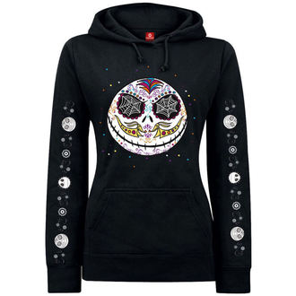mikina dámská Nightmare Before Christmas - Sugarskull Dots - Black, NIGHTMARE BEFORE CHRISTMAS, Nightmare Before Christmas