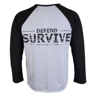 tričko pánské s dlouhým rukávem ALISTAR - Zombie Defend Survive, ALISTAR