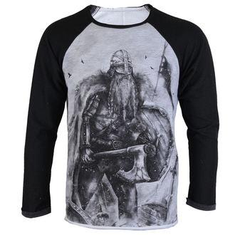 tričko pánské s dlouhým rukávem ALISTAR - Viking After the battle - Grey, ALISTAR