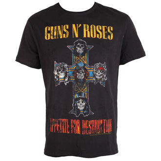 tričko pánské Guns N´ Roses - APPETITE FOR DESTRUCTION TOUR - Charcoal - AMPLIFIED, AMPLIFIED, Guns N' Roses