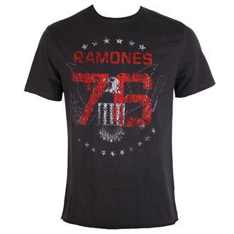 tričko pánské RAMONES 1976 TOUR - Charcoal - AMPLIFIED
