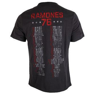 tričko pánské RAMONES 1976 TOUR - Charcoal - AMPLIFIED, AMPLIFIED, Ramones
