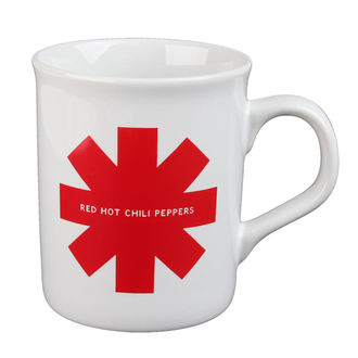 hrnek Red Hot Chili Peppers - Red Asterisk - White
